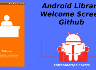 Android welcone screen github library