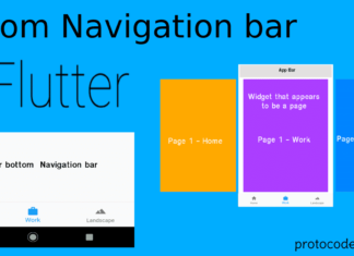 flutter bottom navigation bar tutorial