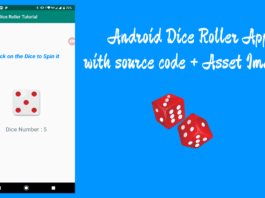 dnd Dice Roller Android App tutorial with source code