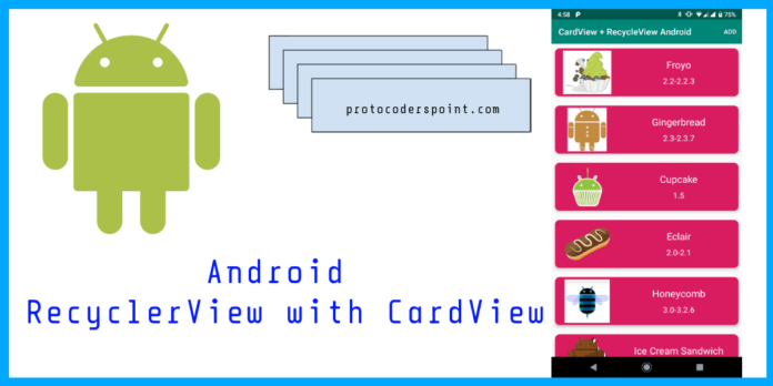 android RecyclerView with CardView example