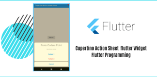 Cupertino Action Sheet