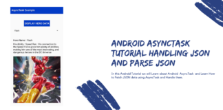 Android AsyncTask Tutorial Handling JSON and parse JSON
