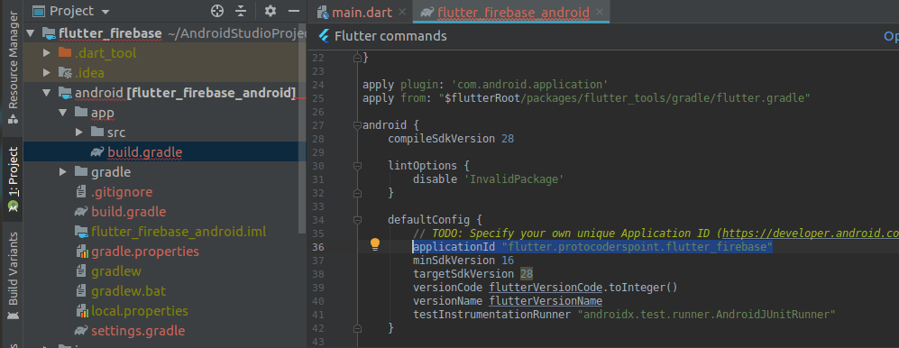 How to Find Application Id in flutter project
