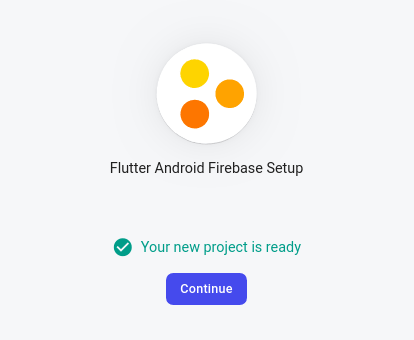 creating Firebase project completed