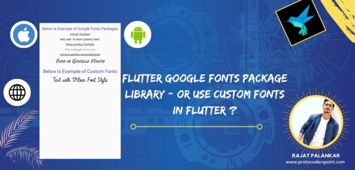 Flutter Google Fonts Package Library