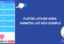 Flutter ListView using Animated List with Example