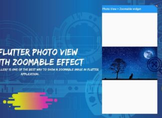 Flutter Photo View widget with zoomable image gallery