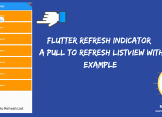 Flutter Refresh Indicator