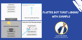 Flutter Toast Message bot library