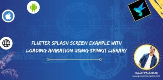Flutter Splash Screen Example with Loading Animation using Spinkit library