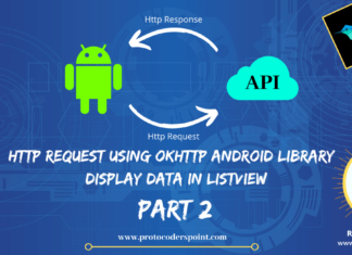 Http Request using OkHttp android library – Display data in ListView Part 2