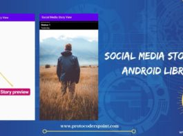 social media storyview android library