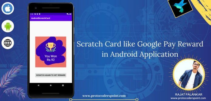 Scratch card like google pay reward card in android application