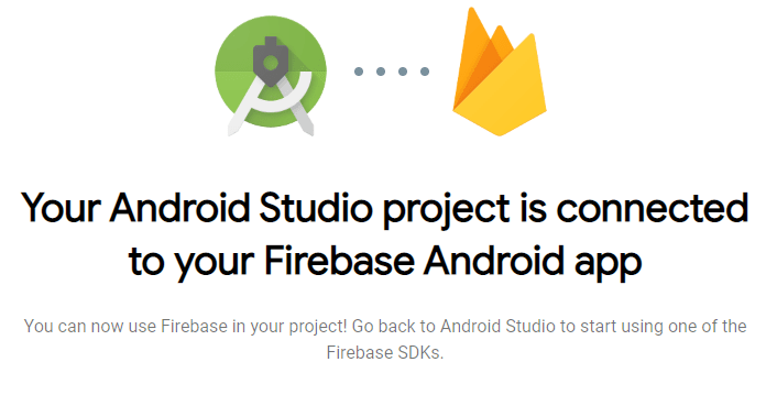 firebase project is connected to android project