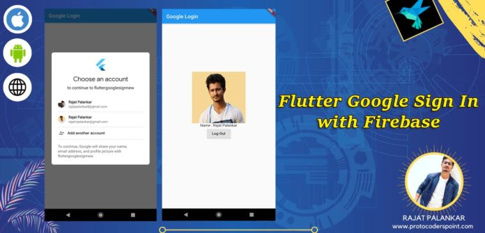 Flutter google sign in with firebase