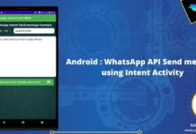android whatsapp api send message