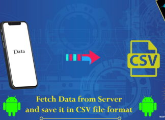 Fetch Data from Server and save it in csv file