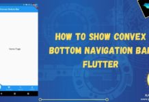 convex flutter bottom navigation bar