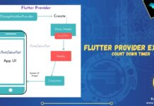 Flutter Provider tutorial example using changeNotifierProvider