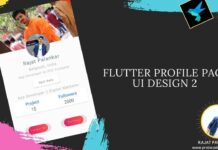 Flutter user profile page ui design example