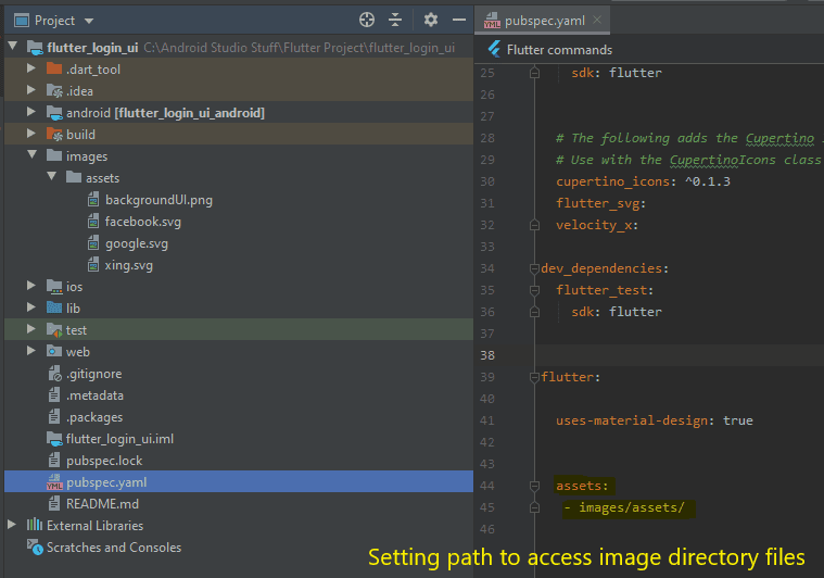 setting path to access image directory files flutter