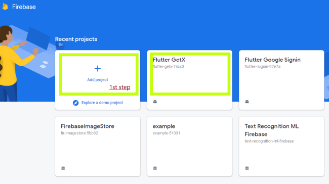 adding flutter project to firebase console
