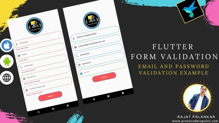 flutter form validation email and password confirm