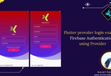 Flutter provider login example firebase auth email password