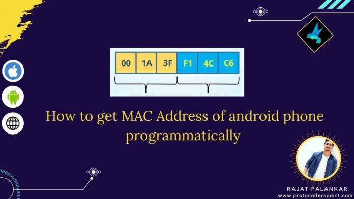 How to get mac address of android phone programmatically