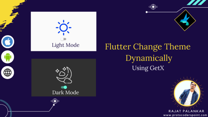 change flutter theme dynamically using getx library