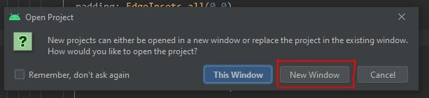 Open as new window - android studio