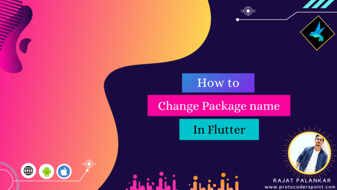 how to change package name in flutter