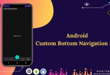 custom bottom navigation bar android