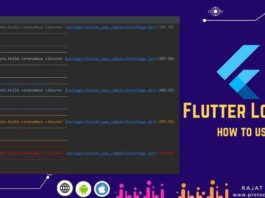 how to log in flutter