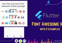 Icons in flutter
