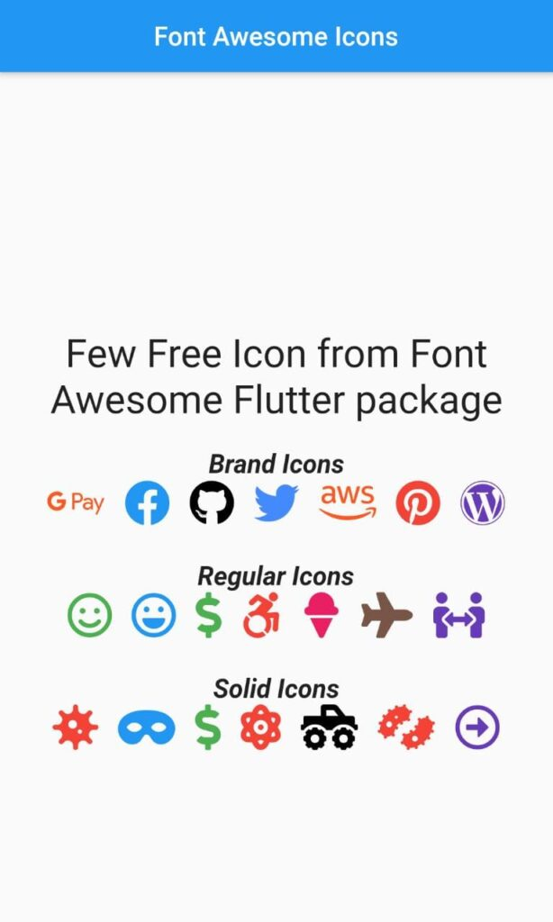 font awesome icons example