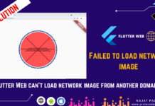 Failed to Load Network image flutter web