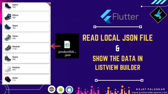 Read json file in flutter and show the data in flutter listview.