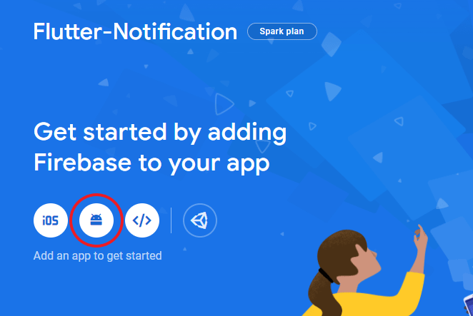 how to add flutter android module to firebase project