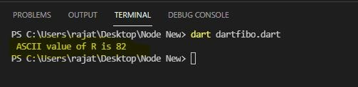 character to ascii in dart