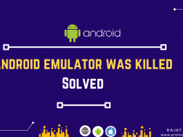 Android emulator was killed