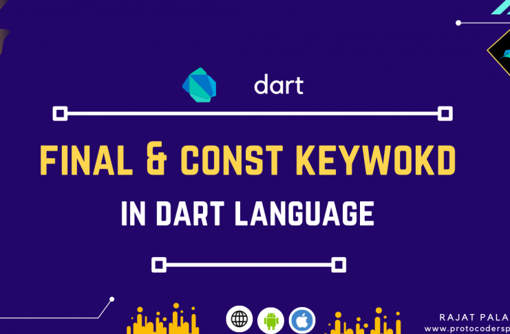 final and const keyword in dart