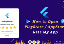 how to open playstore from flutter app