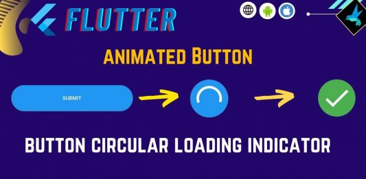 Animated button - loading indicator button